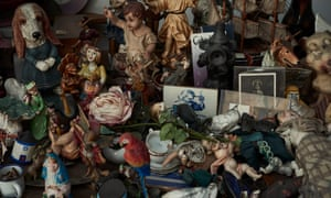 A collection of props and artefacts in Rego's studio