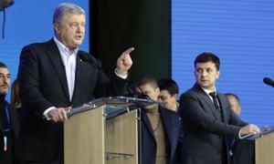 Ukraine's presidential candidates debate in Kiev