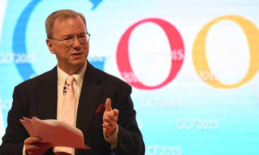 Google's executive chairman, Eric Schmidt addresses the 9th Global Competitiveness Forum earlier this year.