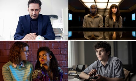 Black Mirror's best and brightest: (clockwise from top left) White Christmas, 15 Million Merits, Bandersnatch, and San Junipero