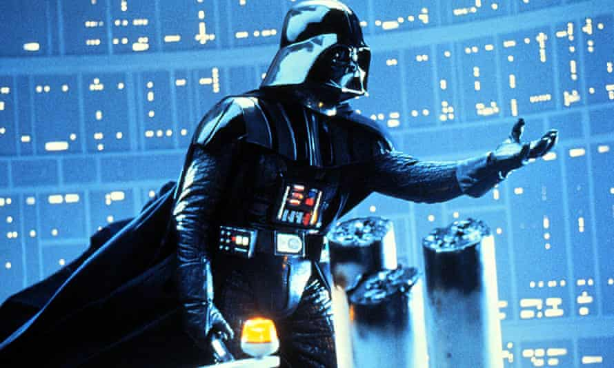 Darth Vader in a scene from The Empire Strikes Back, part of the Star Wars trilogy. The actor who played Vader, Dave Prowse, has died at age 85.