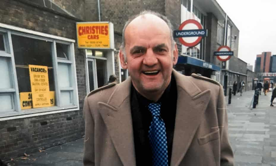 David Blagdon outside White City tube station in London.