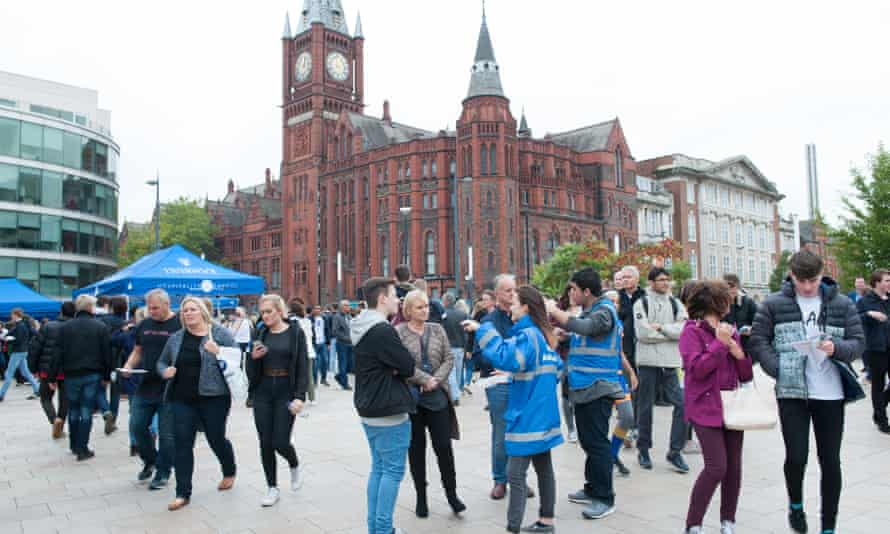 A University of Liverpool open day in 2017.