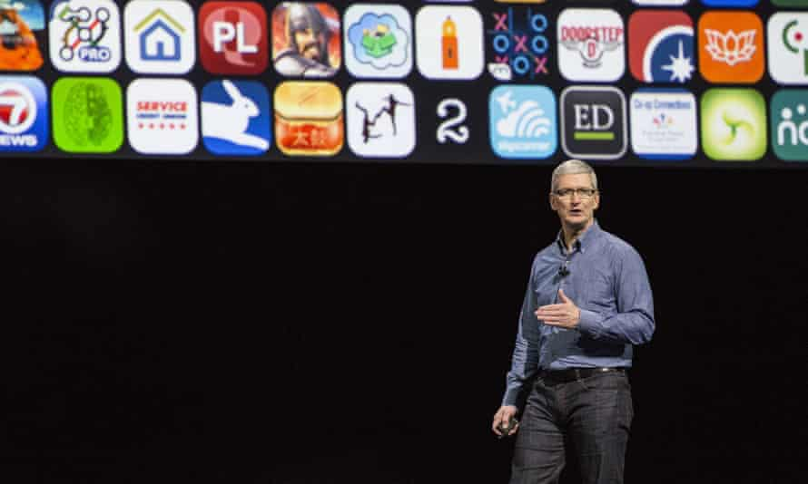 Apple CEO Tim Cook at Apple's Worldwide Developer's Conference in San Francisco.