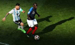 N'Golo Kanté kept Lionel Messi quiet against Argentina in the last 16 tie and played a key role in France's fourth goal which effectively sealed the game.