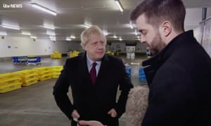 Johnson had grabbed this ITV reporter's phone when he was confronted with the photograph of the boy in Leeds General Infirmary.