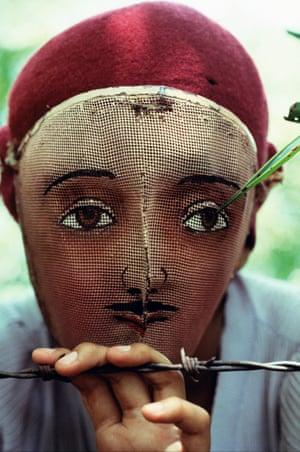 Traditional Indian dance mask, Nicaragua, 1978