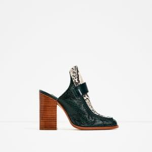 Leather mules £59.99 zara.com