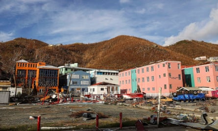 A picture provided by the British MoD shows some of the destruction in Road Town, Tortola, British Virgin Islands left by Hurricane Irma.