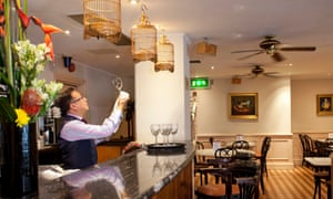 'The room is masterful study in beige... all the colour and drama will be on the table': Bungis Street Brasserie.