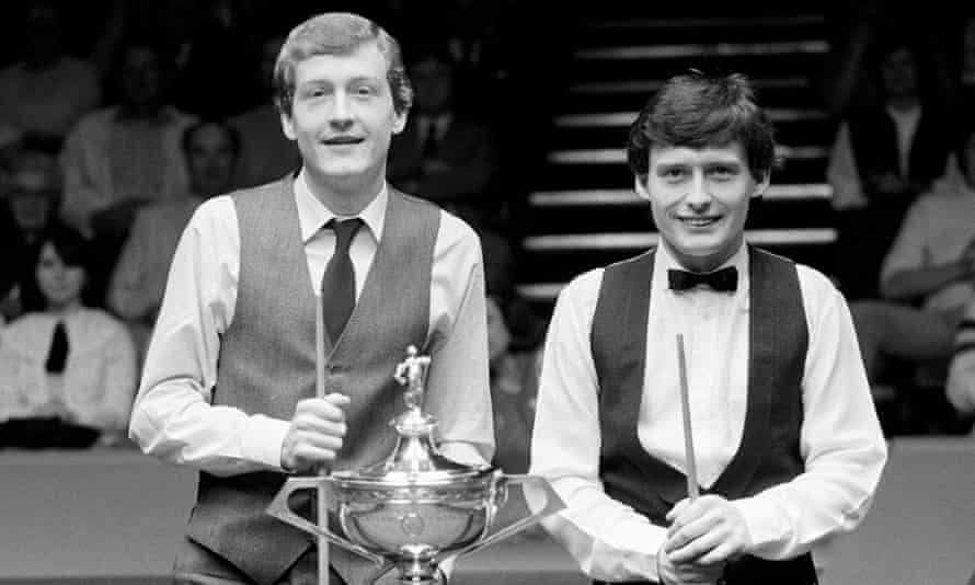 Steve Davis (left) and Jimmy White at the Crucible Theatre, Sheffield, in 1984