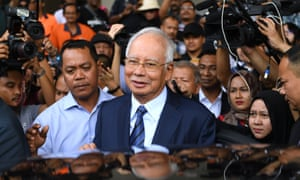 Former Malaysian prime minister Najib Razak is the subject of corruption and money-laundering investigations.