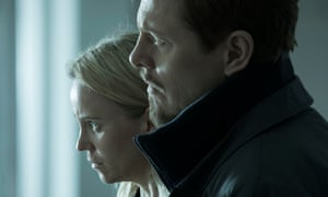Saga and Henrik in The Bridge.