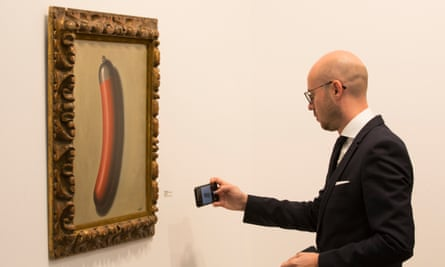 The Helmeted Sausage by Rene Magritte.