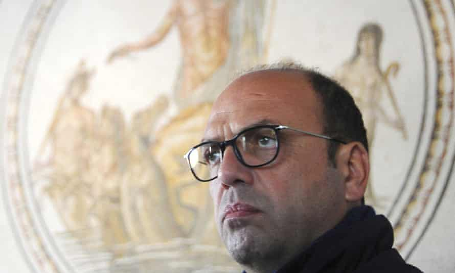 The Italian foreign  minister, Angelino Alfano