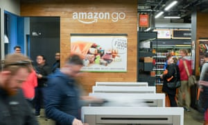Customers at the Amazon Go store in Seattle simply swipe their phones at the door.