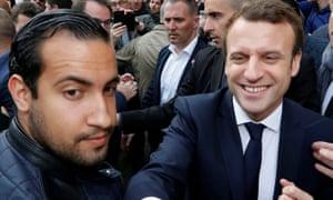 Alexandre Benalla and Emmanuel Macron