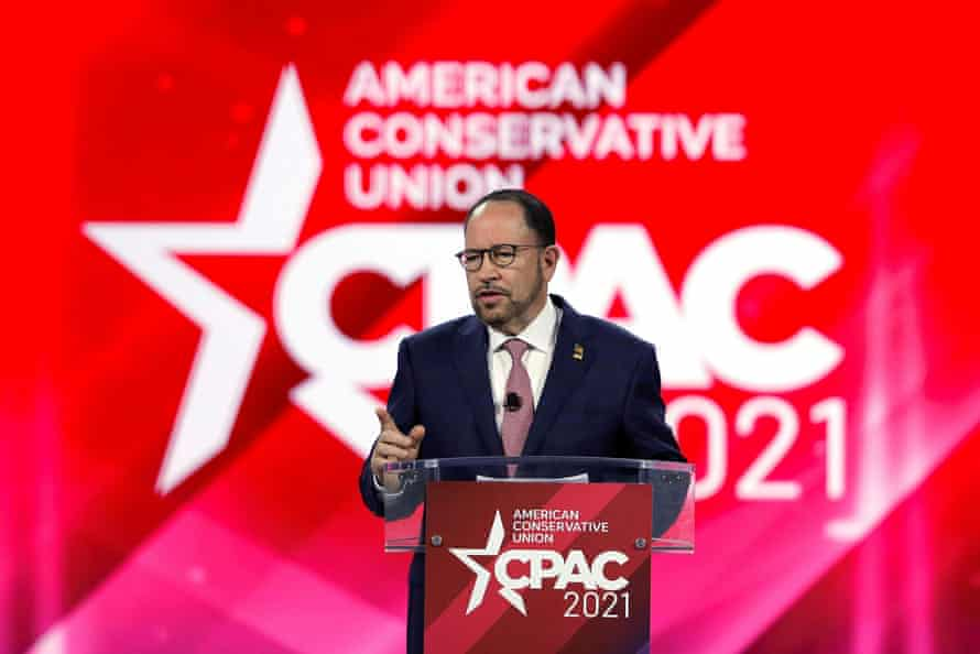 Conservative Political Action Conference (CPAC) in OrlandoRobert Unanue, CEO of Goya Foods, speaks at the Conservative Political Action Conference (CPAC) in Orlando, Florida, U.S. February 28, 2021. REUTERS/Joe Skipper
