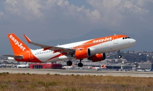 An easyJet Airbus A320-251N takes off from Nice airport