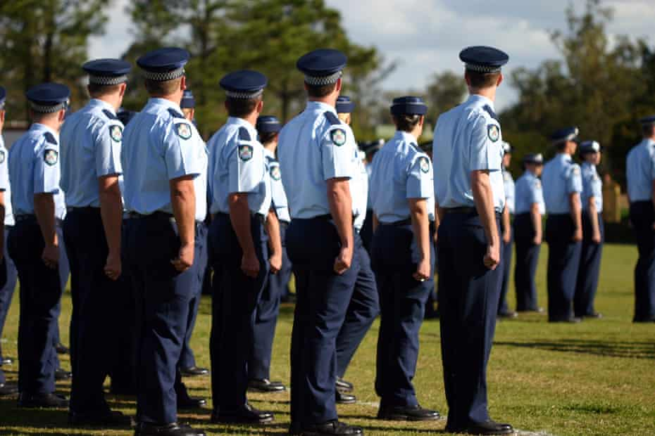 Queensland Police Force members at graduation.