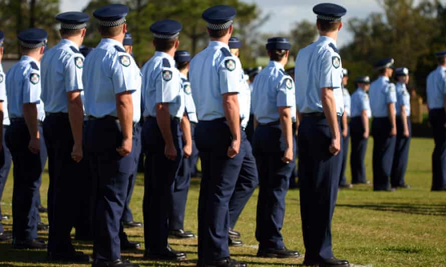 Queensland police members at graduation