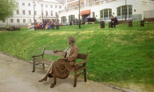 A model of the statue of Virginia Woolf in Richmond, London.