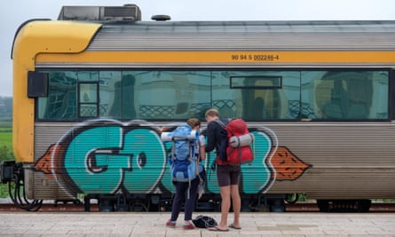 Right of passage … young backpackers Interrailing across Europe.