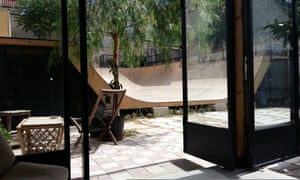 A communal garden, cafe and skate spot in Athens