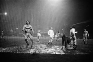 Stoke put a goal past Bobby Moore in their 1972 League Cup semi-final second replay.