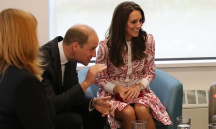 Duchess of Cambridge sitting with legs together, in Canada with husband Prince William