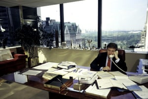 Donald Trump inside his offices in the recently opened Trump Tower