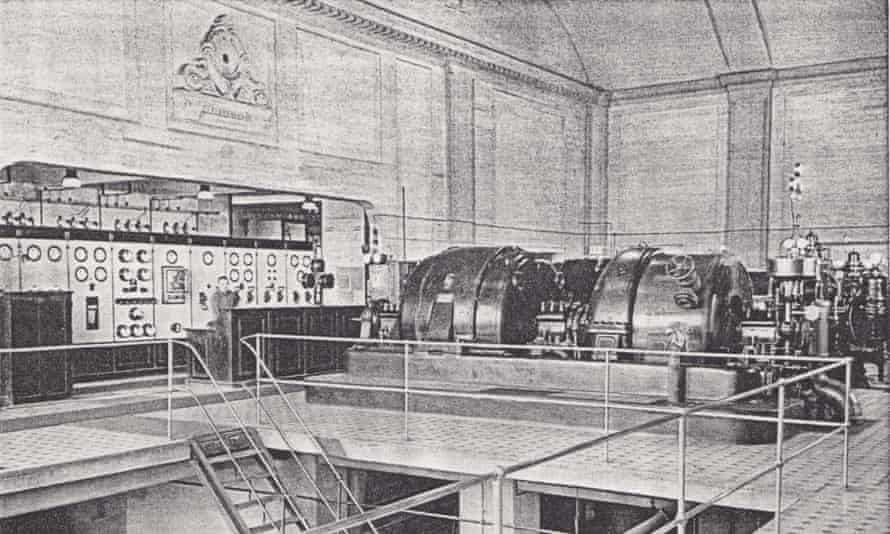 The plant's turbine hall as it was c1928.