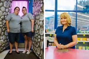 Left: Misty and Valerie, Webster Springs, West Virginia. Right: Lisa, Webster Springs, West Virginia