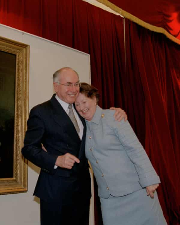 John Howard and wife Jeanette in August 2000.