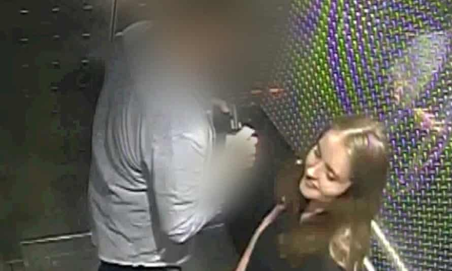 CCTV footage of Grace Millane inside an Auckland hotel lift with the New Zealand man accused of murdering her.