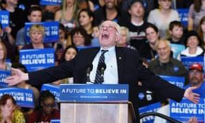 Bernie Sanders jokes around