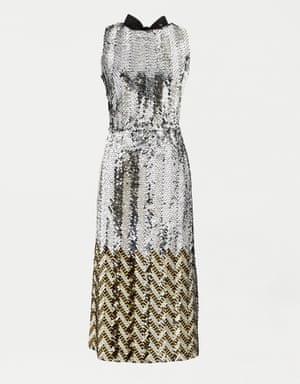 Two-tone sequin dress, £333, jcrew.com