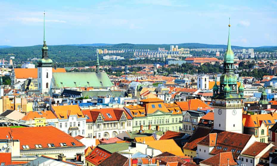 Brno view over the city's rooftops.