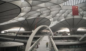 Construction work on the new Beijing Daxing International Airport