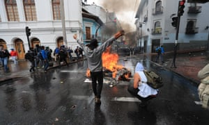 Scenes in the capital, Quito, on Thursday.