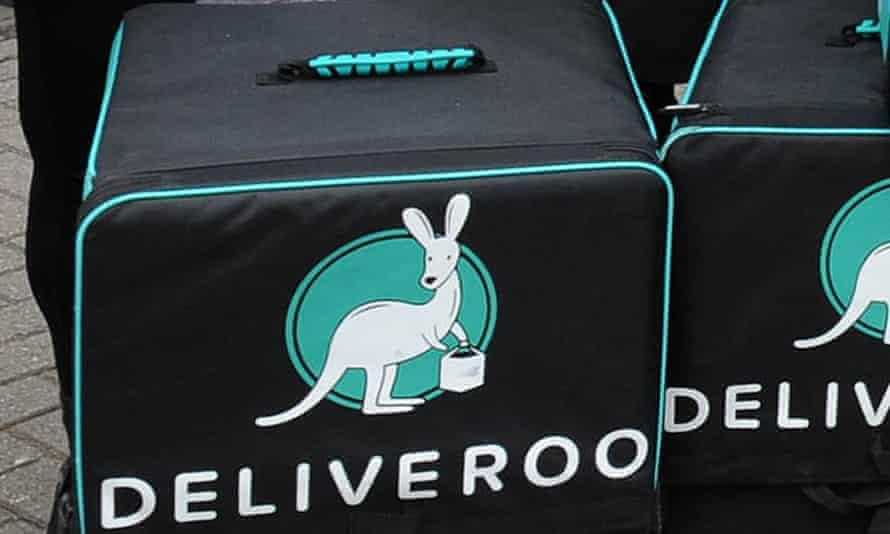 A Deliveroo delivery