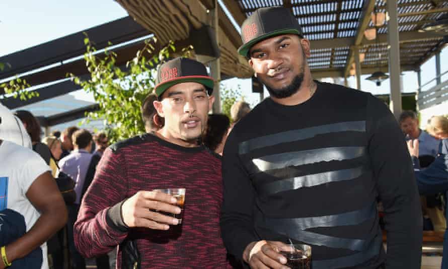 Kurtis Henville (left) and Marcus Knox-Hooke at Toronto international film festival, 2015