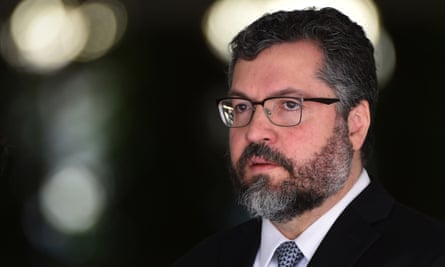 Brazil's foreign minister, Ernesto Araújo, 'isn't taken seriously – either in or outside the ministry – because he represents a kind of sect … that the Americans would call a lunatic fringe'.