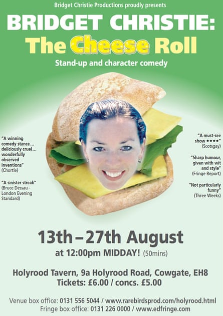 Bridget Christie The cheese roll flyer 2006 poster