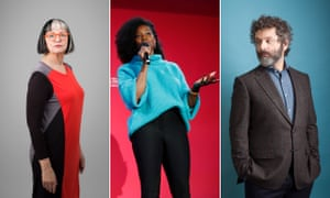 Previous guests including (from left) Philippa Perry, Jamelia and Michael Sheen.
