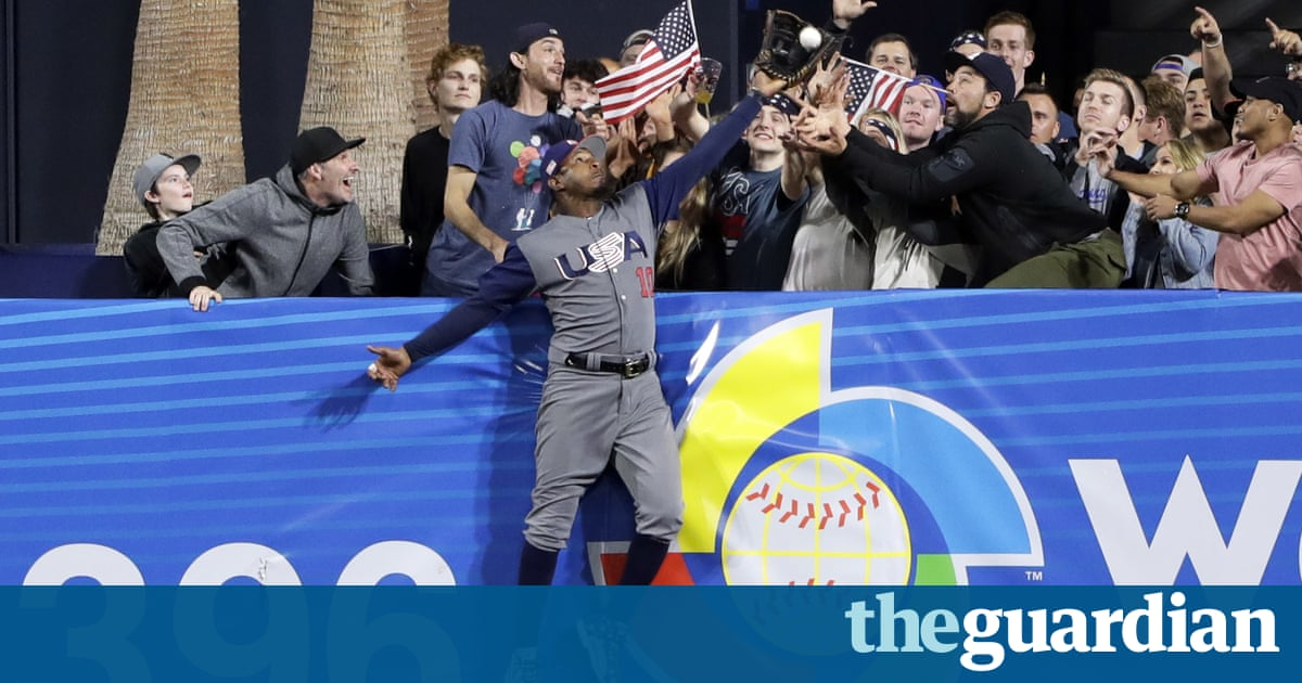 735cb817c73 The United States is going to the semi-finals of the World Baseball Classic for  the second day, thanks to another impressive home run by Giancarlo Stanton  ...