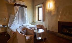 Bedroom at Cappuccini Resort, Cucina San Francesco, Italy.