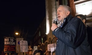 Jeremy Corbyn at an anti-Islamophobia protest last week at Finsbury Park Mosque co-hosted by the Stop the War coalition