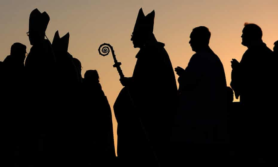 Pell in silhouette at World Youth Day 2008 in Sydney