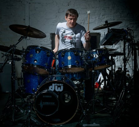 Stephen Morris photographed in his home studio, UK.